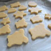 米粉のかぼちゃクッキー 天板に並べる