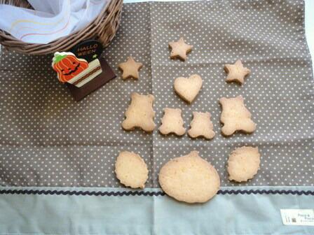 洋菓子用米粉でつくるかぼちゃクッキー