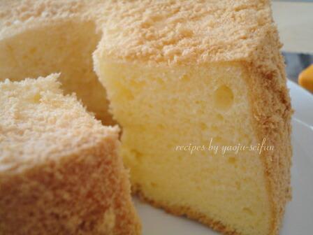 洋菓子用米粉で作るシフォンケーキ