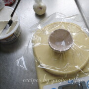 もち粉で作るクリームチーズ大福 チーズボールを作る