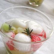 白玉フルーツポンチの作り方