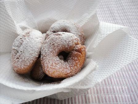 洋菓子用米粉で作るドーナツ