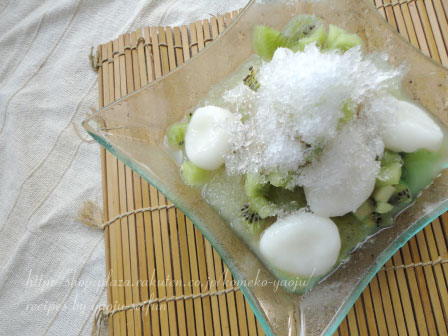 もち粉で作る白玉かき氷