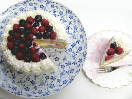 米粉とミックスペリーのケーキ