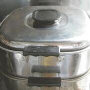 米粉のトッポギ 蒸し器で15分蒸す