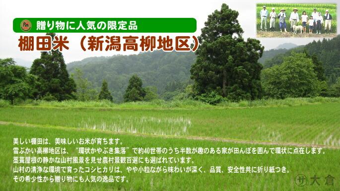 新潟県の棚田米