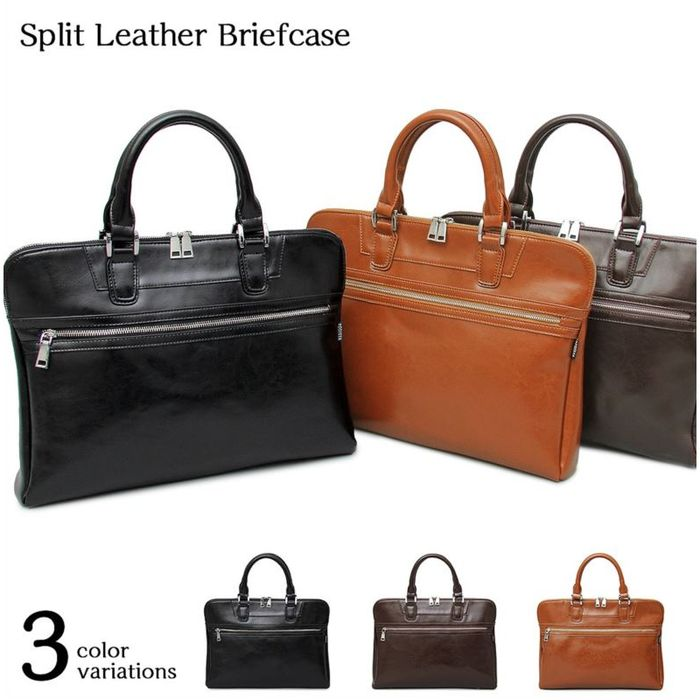 MIJNUX Mens Business Bag Leather Crossbody Mens Suit Bag Mens Bag Tote Bag Crossbody Casual Shoulder Briefcase