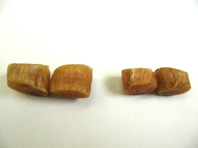 ほたて干し貝柱厚さ比較