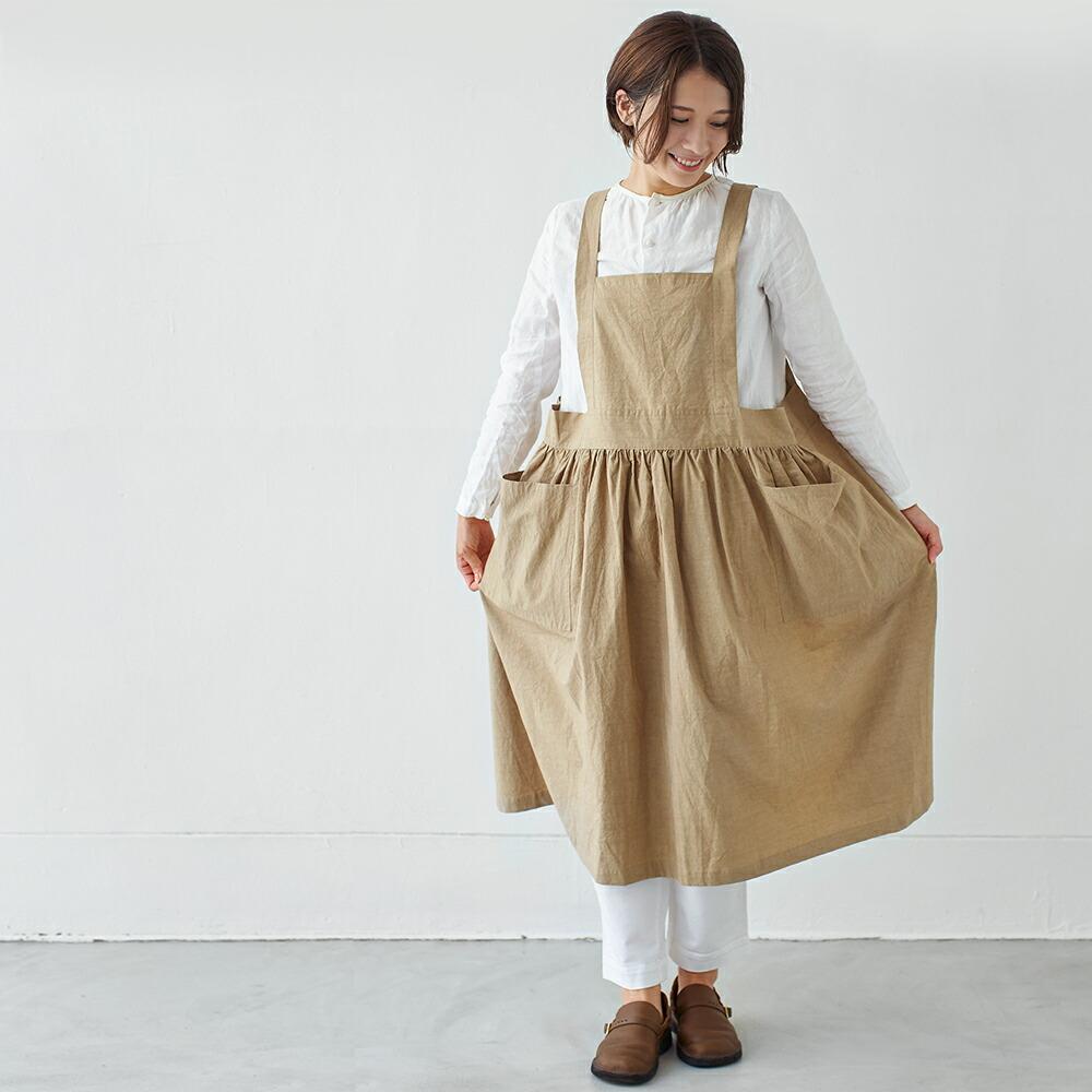 さにーろけーしょん えぷろん ぎゃるそん シンプル 綿 日本製 母の日 国産