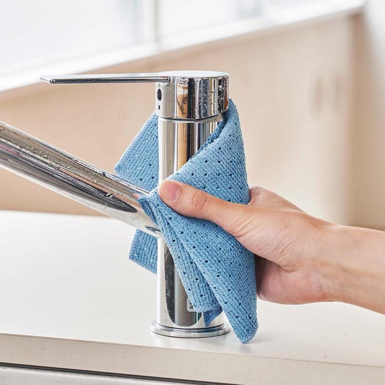 ワイプクロス マイクロファイバークロス 拭き跡が残らない 拭き掃除 窓 鏡 金属磨き ふきん ぞうきん 雑巾 ウエス