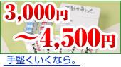 3,000円〜4,500円