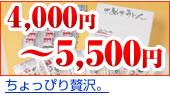 4,000円〜5,500円