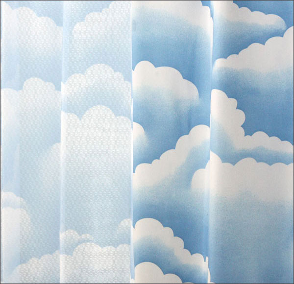 Same Pattern As Blackout Curtains Are Available Cloud Shading Curtain Is Right Side
