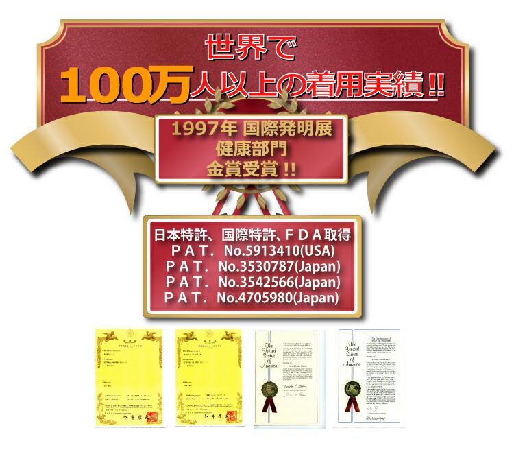 100万件,実績,金賞受賞,特許,番号,賞状,腰痛,骨盤矯正,産後,ベルト