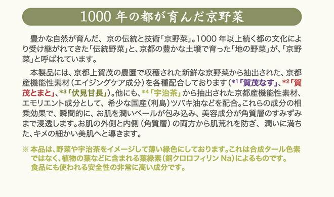 1000年の都がはぐくんだ京野菜