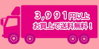 3,991円以上お買上で送料無料!