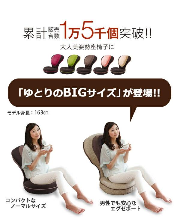 美姿勢座椅子に大人のリッチタイプが登場です。ゆとりのBIGサイズ登場。コンパクトなノーマルサイズ、男性でも安心なエグゼボート