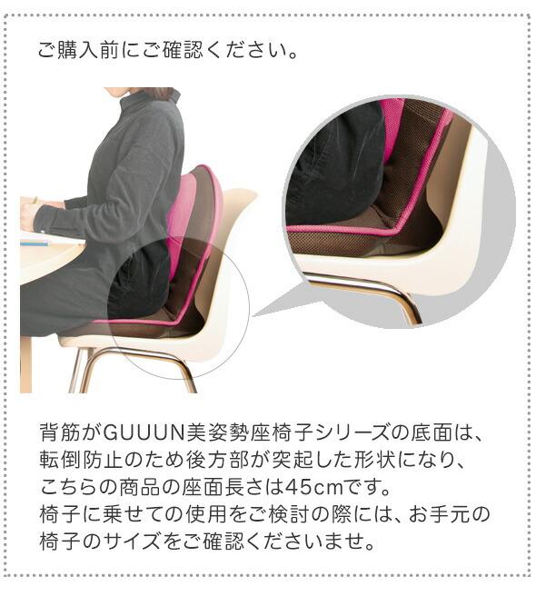 背筋がGUUUN 美姿勢座椅子 コンパクト ご購入前にご確認ください。