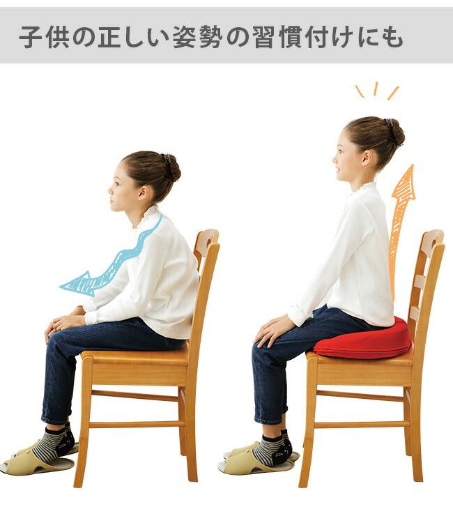 勝野式 座るだけで骨盤キュッとクッション。子供 姿勢 矯正 習慣 猫背 姿勢改善