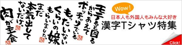 Tシャツ 漢字