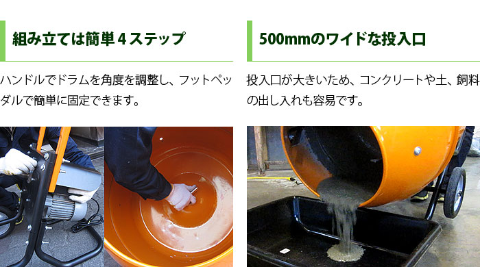 コンクリートミキサー 搭載機能の紹介2