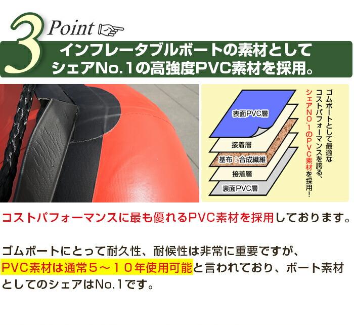 インフレータブルボートDL-b300 強度PVC素材使用