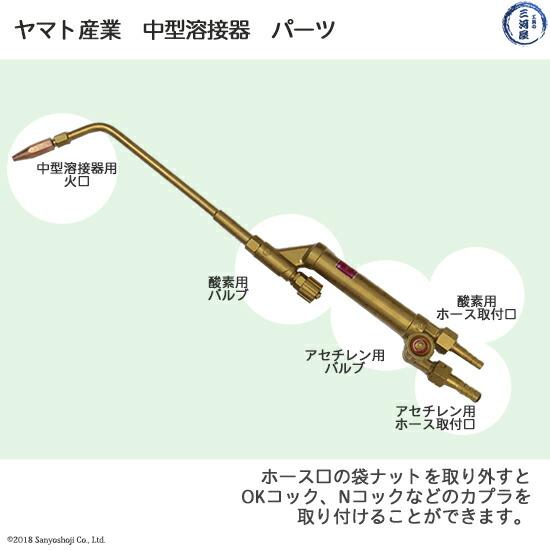 ヤマト産業中型溶接器中吹の各種部品パーツ説明