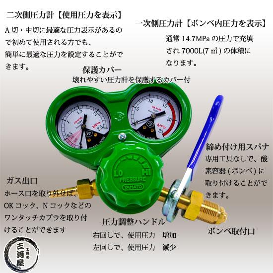 ヤマト産業株式会社 酸素用調整器 SSジュニア(SS-Jr)関西式仕様