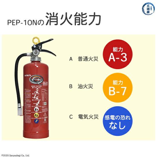 業務用消火器 初田製作所 PEP-10Nの消化能力