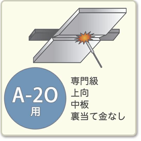 JIS溶接技能者資格試験 A-2O用アーク溶接棒A-14