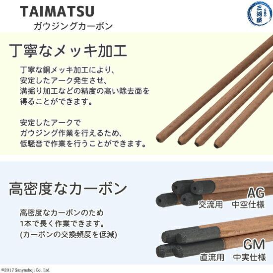 TAIMATUタイマツのガウジングカーボン直流交流の安定したアーク