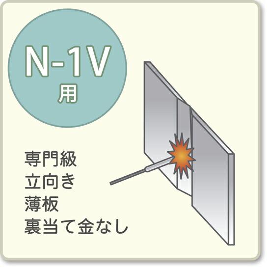 JIS溶接技能者資格試験 N-1V用アーク溶接棒S-16W