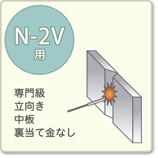 JIS溶接技能者資格試験 N-2V用アーク溶接棒S-16W、S-16
