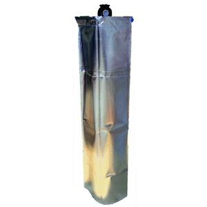 大中産業 ストロングサン酸素カバー SA-O2(SA-02) 47L(7㎥)酸素容器用ボンベカバー 反射材付取付け3