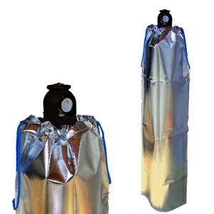 大中産業 ストロングサン酸素カバー SA-O2(SA-02) 47L(7㎥)酸素容器用ボンベカバー 反射材付取付け4
