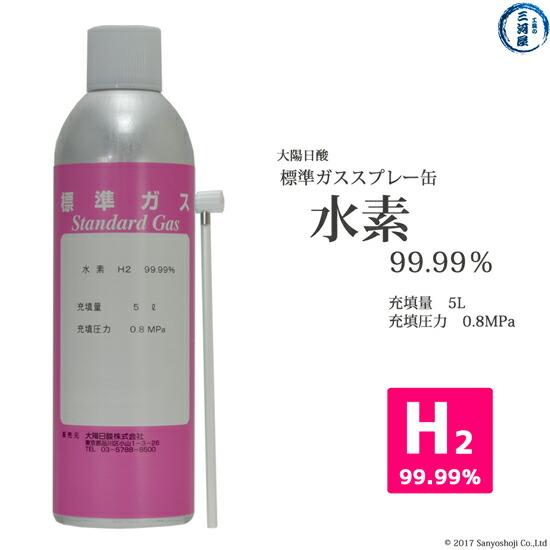 大陽日酸純ガススプレー(プッシュ缶)水素