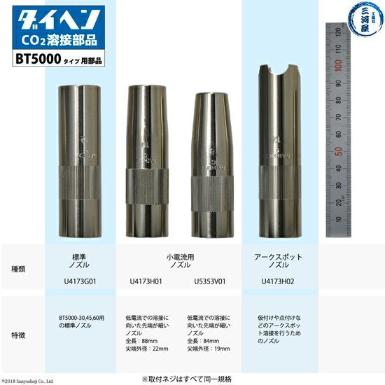 BT5000シリーズ(BT5000-30、BT5000-45、BT5000-60)用ノズルの種類