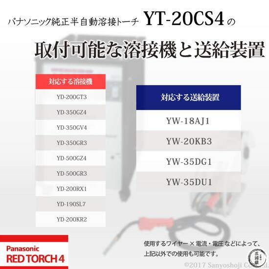 パナソニック純正半自動溶接トーチ YT-20CS4 REDTORCH4 取付可能 溶接機 溶接電源 ワイヤー供給装置