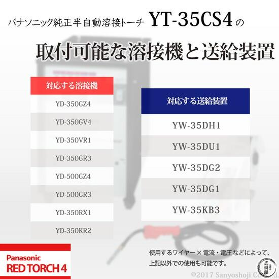 パナソニック純正半自動溶接トーチ YT-35CS4 REDTORCH4 取付可能 溶接機 溶接電源 ワイヤー供給装置