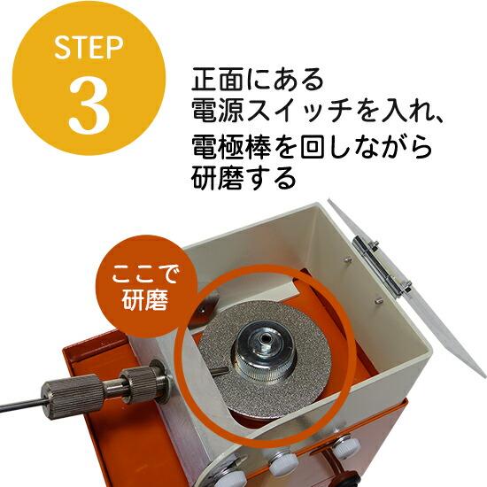 タングステン研磨機 TA-CX タントギ CUBEダイヤモンドディスクでの研磨