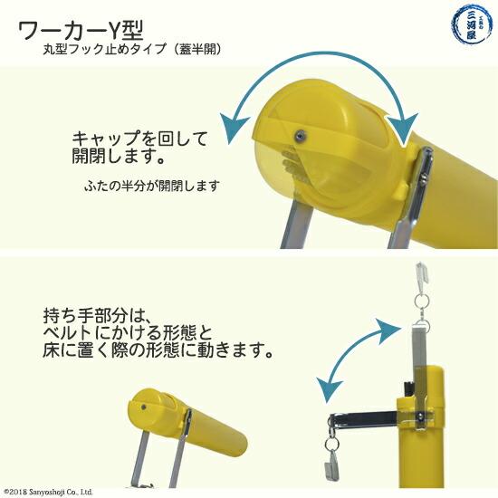 加納化成溶接棒携帯ケースケースワーカーY400キャップの開閉