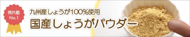売れ筋No.1九州産しょうが100%使用。国産しょうがパウダー。