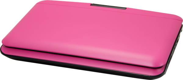 【新品】【送料無料】ヴァーテックス【ポータブルDVDプレーヤー】回転式9インチ液晶搭載●バッテリー内蔵●cprm対応 ピンク PDVD-V092【ポータブルDVDプレイヤー】