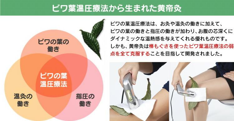 ビワ葉温圧療法から生まれた黄帝灸