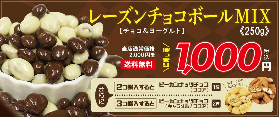 レーズンチョコボールミックス250g1000円ぽっきり
