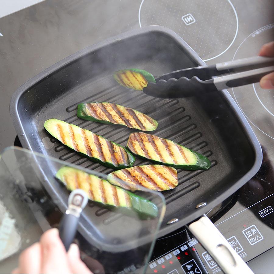 マイヤーのグリルパンでグリル野菜焼き目が最高