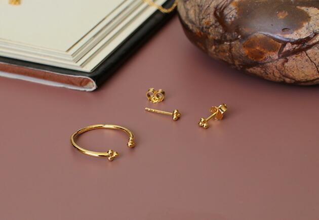 ENAMEL Simple Flower Ring