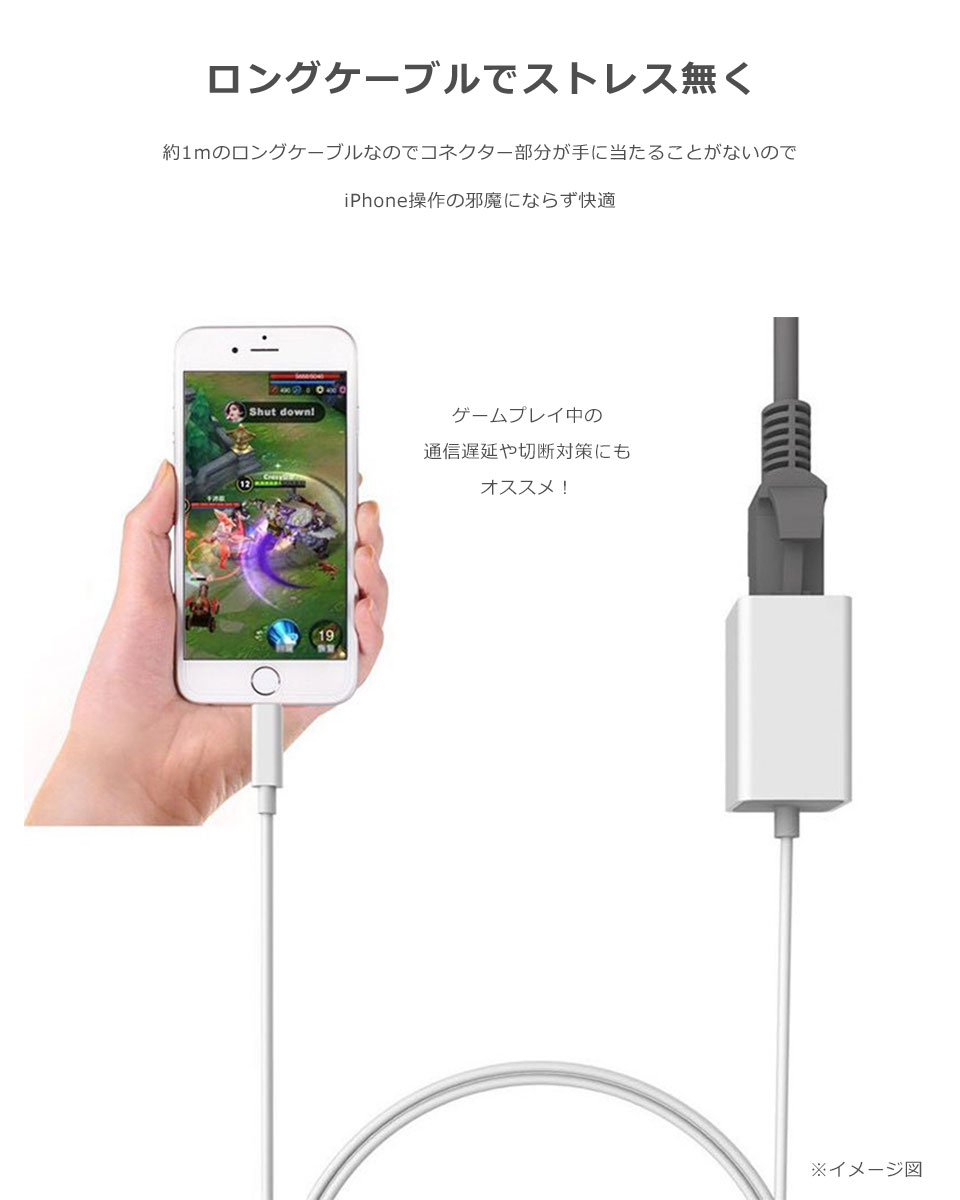 iPhone LANアダプター 有線LAN接続