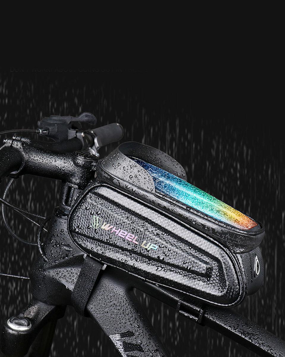 スマホホルダー 自転車 防水 自転車スマホホルダー トップチューブバッグ 自転車バッグ フロントバッグ 自転車フレームバッグ スマホバッグ