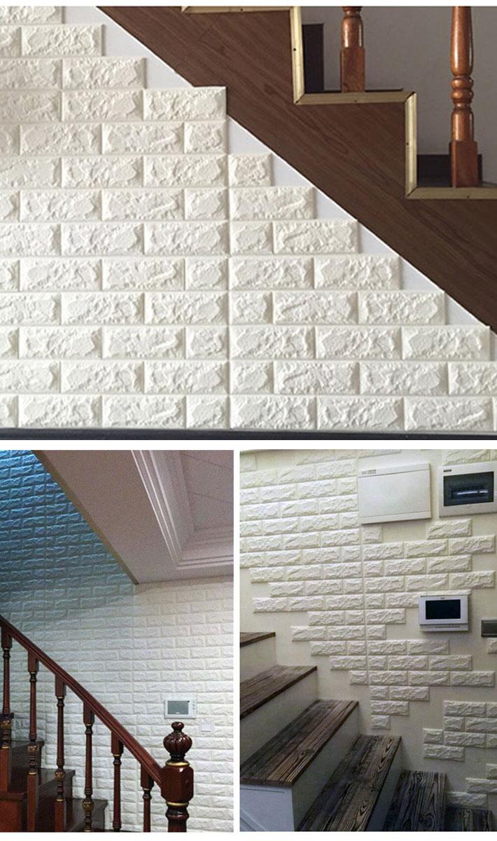 楽天市場 壁紙 レンガ 白 シール のり付き クロス 壁用 シート